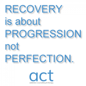 recovery is about progression not perfection
