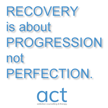 recovery is abou progression not perfection