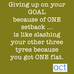 giving up your goal
