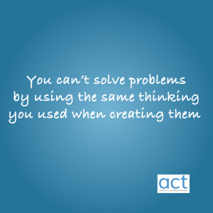 you can't solve problems by thinking